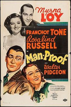 Man-Proof (1938) *Original* One Sheet Movie Poster Myrna Loy  Franchot Tone
