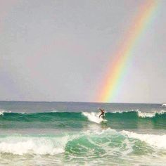 Surfing the rainbow on Bondi Beach! by compasschasers