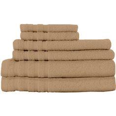 Dream Castle Cotton Indulgence 6 Piece Towel Set Color: Sand