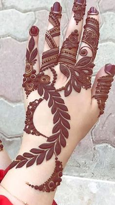 Henna Design By Fatima Modern Henna Designs, Khafif Mehndi Design, Latest Henna Designs, Floral Henna Designs, Henna Art Designs, Mehndi Designs For Girls, Mehndi Designs For Beginners, Dulhan Mehndi Designs, Mehndi Design Photos