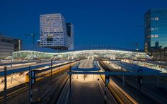 Completed in 2016 in Utrecht, The Netherlands. Images by Jannes Linders, Your Captain Luchtfotografie . The largest and busiest train station in the Netherlands is officially open. Utrecht Central Station was once built for approximately 35 million. Station To Station, Central Station, Utrecht, Transport Hub, Vertical City, Roof Covering, Glass Facades, Space Travel, Netherlands