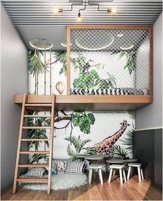 Diy Bathroom Decor, Room Decor Bedroom, Kids Bedroom, Boys Bedroom Ideas With Bunk Beds, Jungle Bedroom, Loft Beds, Bathroom Small, Bathroom Modern, Simple Bathroom