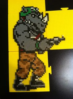 TMNT Rocksteady perler beads - BloodyPerlerBeads | Photobucket
