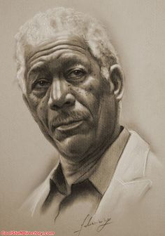 MORGAN FREEMAN    30 Awesome Pencil Portrait Sketches by Krzysztof Lukasiewicz - Cool Stuff Directory