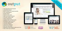 Output | Responsive Multi-Purpose WordPress Theme . Output has features such as High Resolution: Yes, Widget Ready: Yes, Compatible Browsers: IE8, IE9, IE10, Firefox, Safari, Chrome, Compatible With: WPML, WooCommerce 2.5, WooCommerce 2.0.x, Bootstrap 2.3.x, Bootstrap 2.2.2, Bootstrap 2.2.1, Bootstrap 2.1.1, Bootstrap 2.1.0, Software Version: WordPress 4.6.1, WordPress 4.6, WordPress 4.5.x, WordPress 4.5.2, WordPress 4.5.1, WordPress 4.5, WordPress 4.4.2, WordPress 4.4.1, Columns: 4+