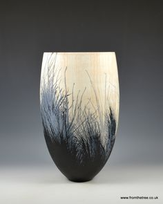 Ash vessel with acrylics and ink made by George Watkins