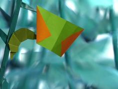 ORIGAMI BUTTERFLY- paper magic with stop motion animation.