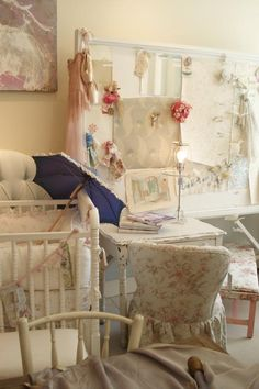Rachel Ashwell Shabby Chic Couture store - Love the pop of blue on all white