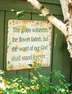 Sign...how cute for the garden!!