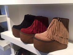 oferta art 802 botas flecos madera plataforma invierno 2016