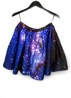 Magellanic Cloud Nebula Skirt by shadowplaynyc. Looks like an item from Things Miss Frizzle Would Wear.