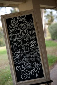 A fun chalkboard sign at an elegant wedding! {Marlon Taylor Photography}