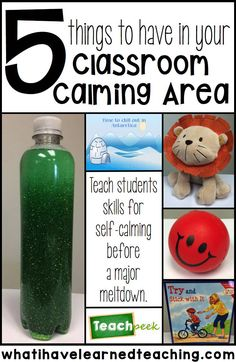 Do you have a few kids who just need a little bit of time away from the whole group? Prevent major meltdowns by providing stunts with a calming area in the classroom. Here are five things to have in your calming area in the classroom.