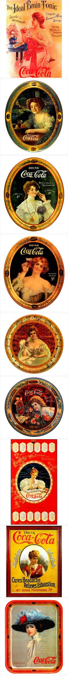 Vintage Coca-Cola Serving Trays - ADS - 堆糖-美好生活研究所 Coca Cola Poster, Coca Cola Ad, Always Coca Cola, Coca Cola Bottles, Retro Ads, Vintage Advertisements, Vintage Ads, Vintage Prints, Old Posters
