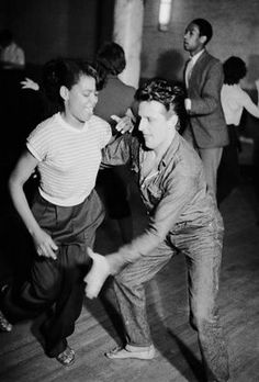 Dancing in men's trousers at Cy Laurie's trad jazz club in 1954 | Charles 'Slim' Hewitt via History is Made at Night