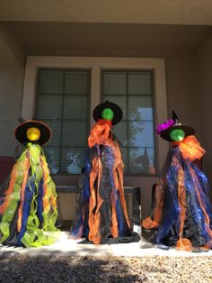 Tomato cage witches to show this Halloween and so fun to make!