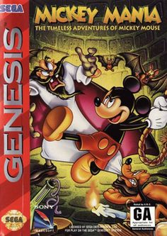 Mickey Mania - The Timeless Adventures of Mickey Mouse (The Sega CD one is pictured, but I want the Super Nintendo version) Games Box, Old Games, Pac Man, Playstation, Turbografx 16, Arcade, Sega Cd, Sega Genesis Games, Pc Engine