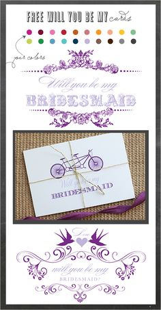 Bridesmaid Printable