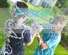 Frozen Summer Games - Sunshine and Hurricanes - perfect for a 'Frozen' themed birthday party in summertime!