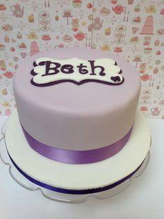 Purple birthday cake. X