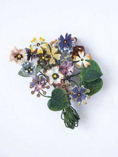 Spilla bouquet violette foto Dario Fusaro