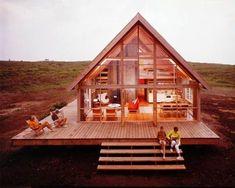 Prefab Cabin, great windows