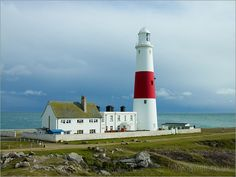 Portland Lighthouse Dorset, England♥ by amie Portland Lighthouse, Lighthouse Keeper, Dorset Holiday, Portland Dorset, Beacon Tower, Lighthouse Lighting, Dorset England, Jurassic Coast, British Isles