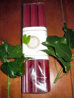 The Garden Room - 6 Christmas Burgandy Red non drip Dinner Candles,Made in Cornwall,England,Natural Wax, �11.99 (http://www.the-gardenroom.co.uk/6-christmas-burgandy-red-non-drip-dinner-candles-made-in-cornwall-england-natural-wax/)