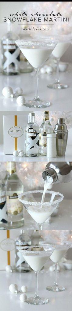 Godiva white chocolate liquor, vanilla vodka and white creme de cocoa. I. MUST. TRY.