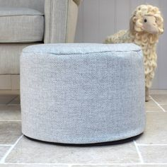 Put your feet up with our stylish foot pouffe with a grey herringbone cover in wool fabric from Marquis & Dawe Herringbone Pattern, Wool Fabric, Luxury Home Decor, Foot Rest, Linen Bedding, Home Accessories, Living Room, Blankets