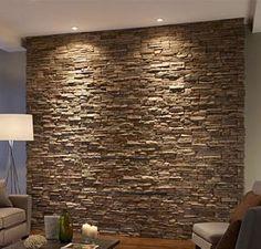 Living Room Designs, Living Room Decor, Bedroom Decor, Stacked Stone Walls, Stone Accent Walls, Funky Home Decor, Brick Design, Decoration, Modern Design