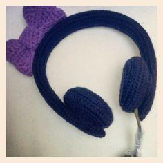 crochet headphones Crochet Necklace, Headphones, Jewelry, Fashion, Crochet Collar, Music Headphones, Jewellery Making, On Ear Earphones, Jewlery