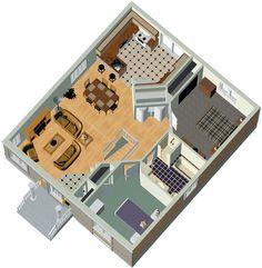 PLANO DE CASA DE 2 PISOS EN 85M2 (10m x 8.5m) : PLANOS DE CASAS GRATIS Y DEPARTAMENTOS EN VENTA