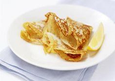 British Style Pancakes with Lemon and Sugar