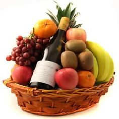 Wine fruit gift basket idea great for clients and to say thank fruit and wine selection free shipping usa only fruit gift basketsfruit negle Gallery