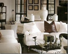 Plantation Shutters - a very west indies Living Room sofa
