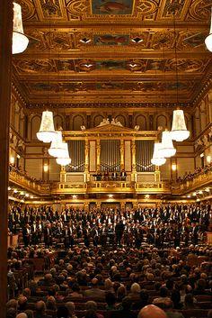 Wiener Symphoniker and Choir at Musikverein Hall Design, Salzburg, Choir, Vienna, Austria, Real Life, Germany, Wanderlust, Around The Worlds
