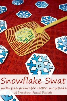 Snowflake Swat! Letter Learning FREE Printable AND 6 ways to play! | Preschool Powol Packets
