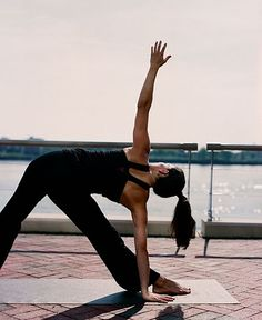 Yoga Poses Around the World: Triangle by the Water
