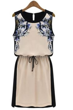 So Pretty! Love this Dress! Elegant Floral Print Chiffon Dress #Elegant #Floral #Dress #Fashion