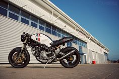Ducati Monster 900 Custom a 1996 model inspired by the 70's racing Ducatis