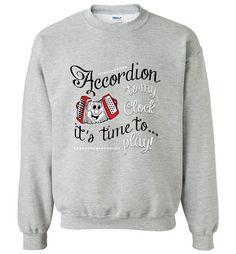 Accordion to My Clock - Gildan Crewneck Sweatshirt