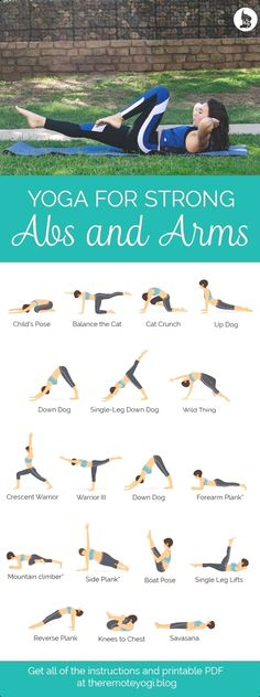 Yoga for Strong Abs & Arms - Free Printable PDF Check more at yoga. Informations About Yoga for Strong Abs & Arms - Free Printable PDF Yoga Fitness, Health Fitness, Fitness Style, Yoga Beginners, Beginner Yoga, Yoga For Beginners Flexibility, Advanced Yoga, Improve Flexibility, Yoga Sequences
