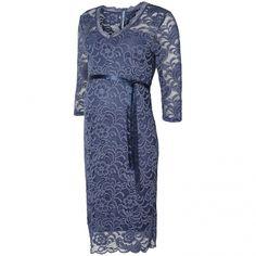 Mivana 3/4e dress vintage indigo - Trouw- en Feestkleding - Zwangerschapskleding - BellyFashion.nl