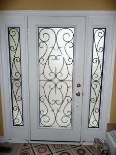Wrought Iron Door Transformation In Newmarket Ontario Completed By York Home Improvement Supplies