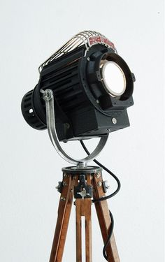 SOLD 40's Vintage Tripod Lamp