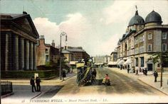 Mount Pleasant Road with the Opera House and the Baptist Church.