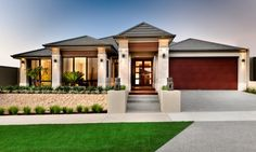 Modern bungalow house with garage home design plans new home designs ideal small house exteriors small . modern bungalow house with garage Simple House Exterior Design, Small House Exteriors, Modern Bungalow House, Modern Exterior, Modern House Design, Contemporary Home Exteriors, Ranch Exterior, Garage Exterior, Brick Exteriors