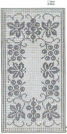 Crochet Table Runner Pattern, Free Crochet Doily Patterns, Filet Crochet Charts, Crochet Ripple, Crochet Motif, Crochet Doilies, Cross Stitch Cushion, Cross Stitch Rose, Cross Stitch Flowers