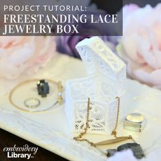 Freestanding Lace Jewelry Box (PR2100) from www.emblibrary.com